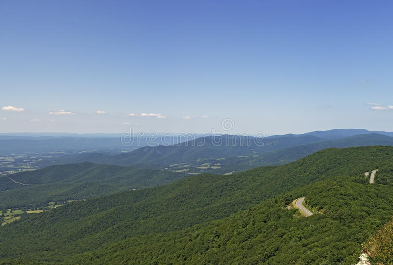 View From Little Stony Man Lookout, Shenandoah National Park royalty free stock photo