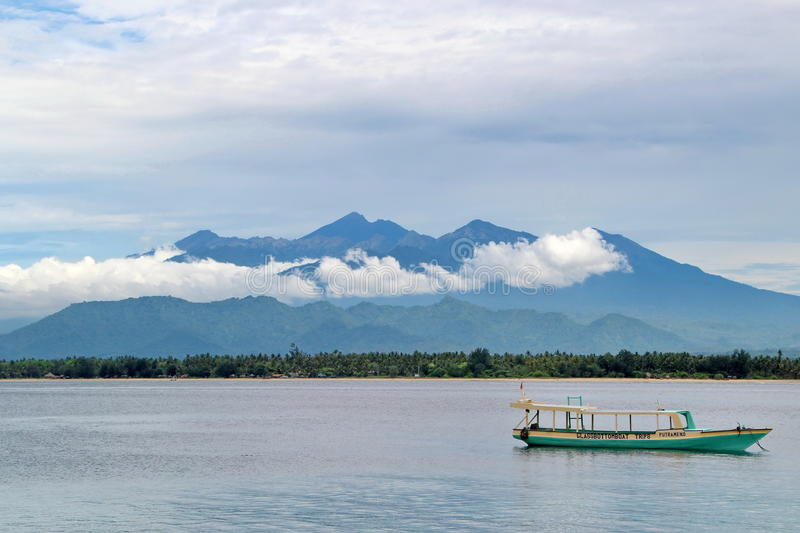 View on Lombok stock images