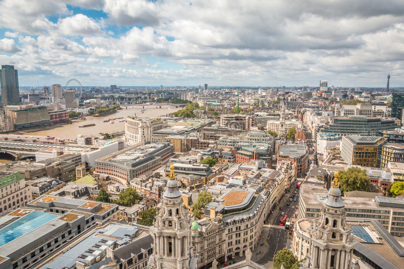 View of London. City view of London in England stock images