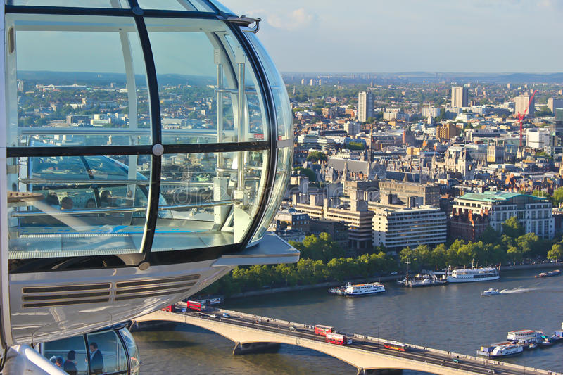 Download View from the London Eye editorial photography. Image of europe - 24240597