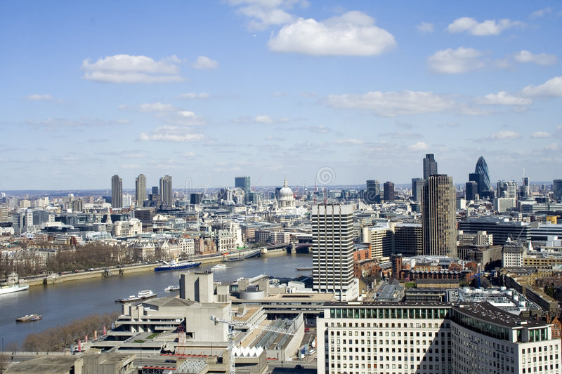 View from the london eye stock photos