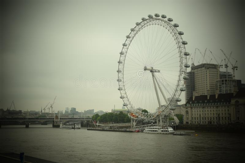 View of the London Eye stock image