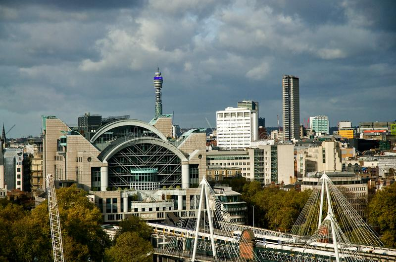 View of London from London Eye stock images