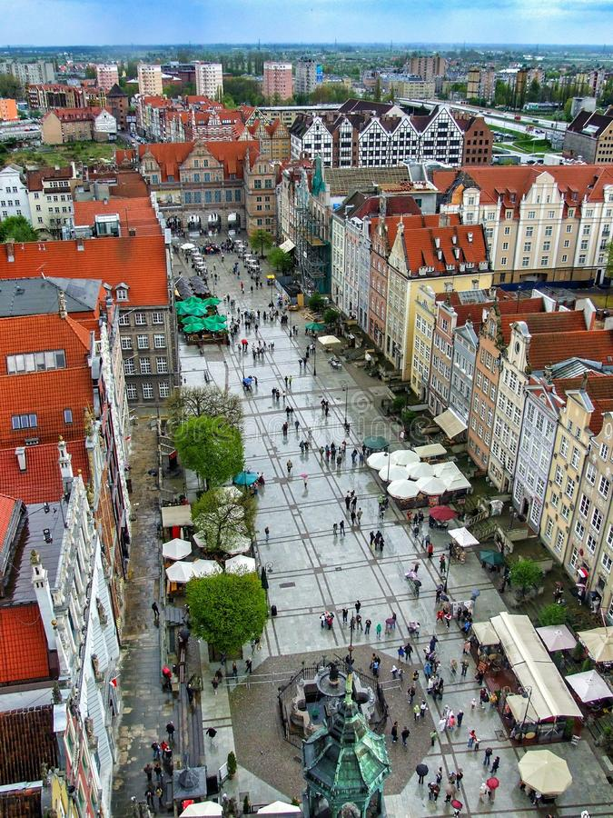View on Long Marhet in Gdansk in Poland. royalty free stock photography