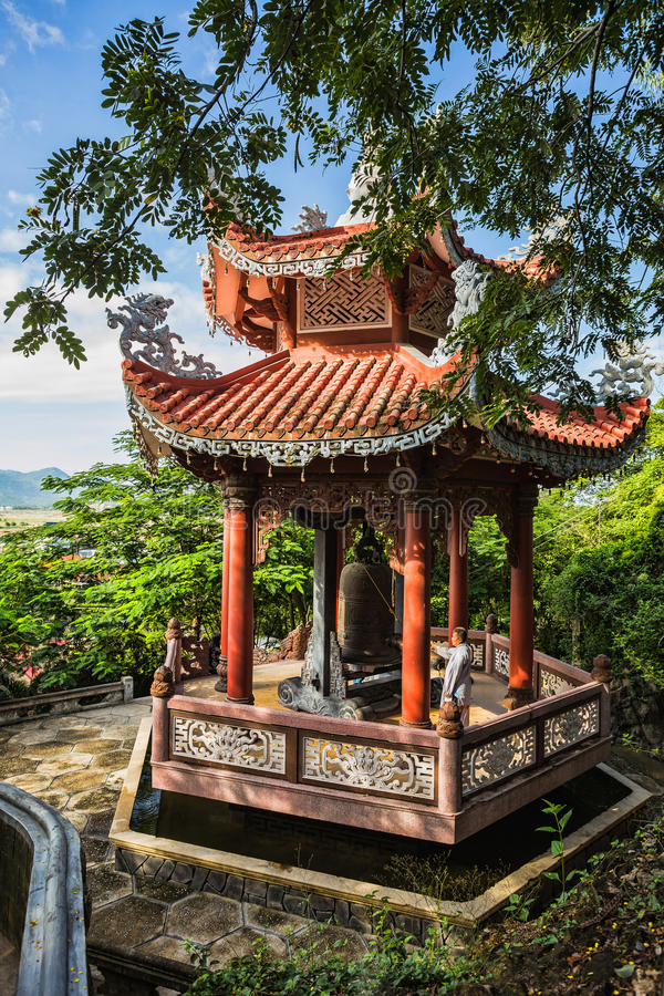 View of the Long Son Pagoda royalty free stock photo
