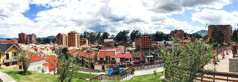 Panoramic View of Gringolandia in Cuenca Ecuador royalty free stock images
