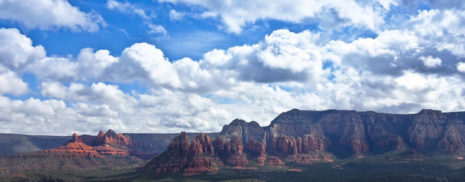 A View Looking East from the Airport Loop, Sedona, AZ, USA stock photos