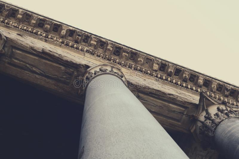 Download View Looking Up A Column Attached To A Building Roof Stock Photo - Image of design, stock: 83022284