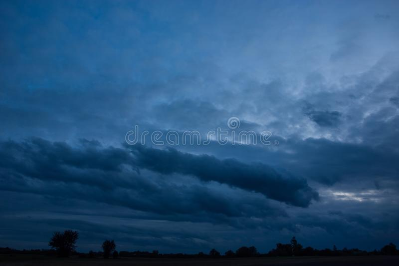 View of the low hanging clouds royalty free stock image