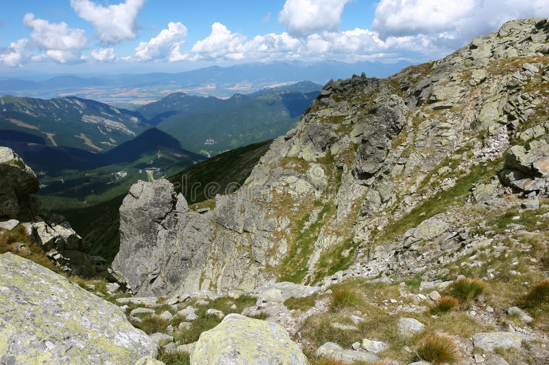 View in Low Tatras mountains. royalty free stock photo