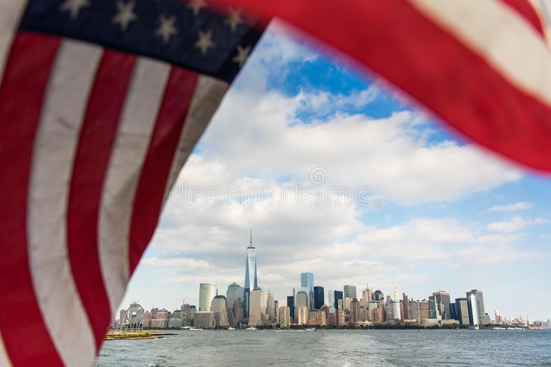 A view of Lower Manhattan stock photos