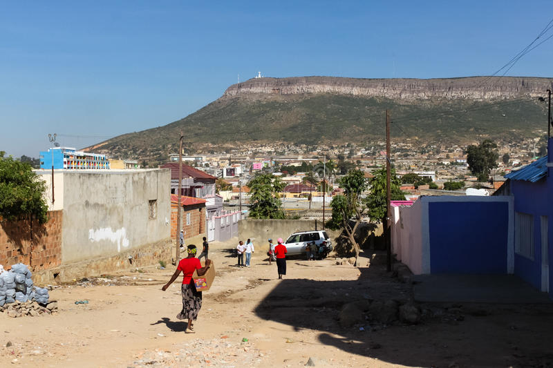 View of Lubango, Angola. Lubango is one of the highest cities in Angola royalty free stock image