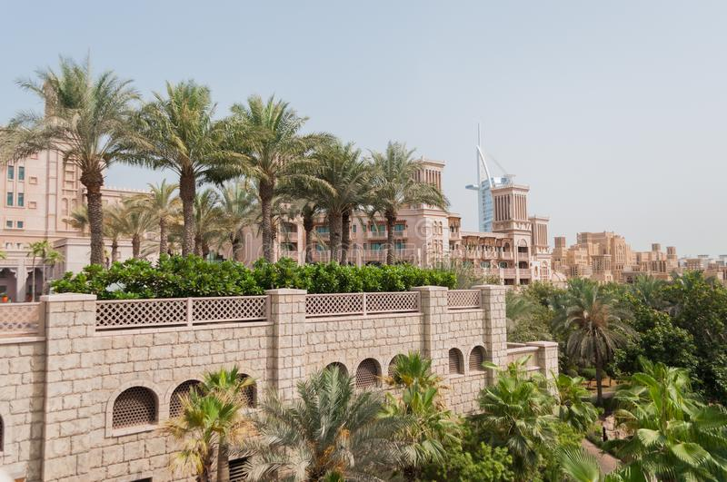 Madinat Jumeirah Luxury Hotel in Dubai, UAE royalty free stock photography