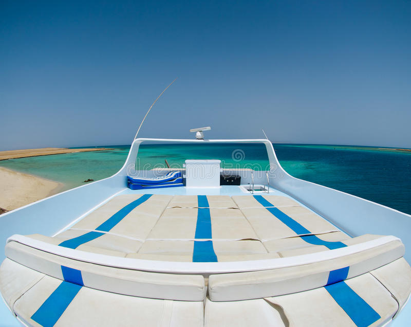View from a luxury yacht on the red sea