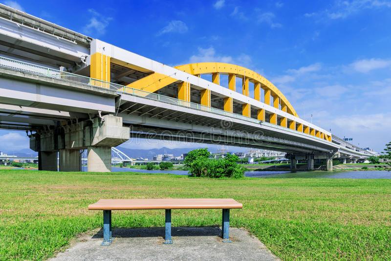 View of MacArthur bridge in Taipei stock photo