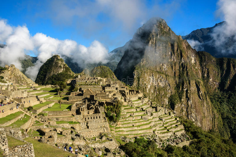 View of the Machu Picchu stock photos