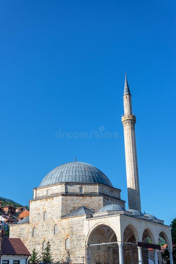 Sinan Pasha Mosque in Prizren, Kosovo. View of the magnificent Sinan Pasha Mosque in historic Prizren, Kosovo royalty free stock photography