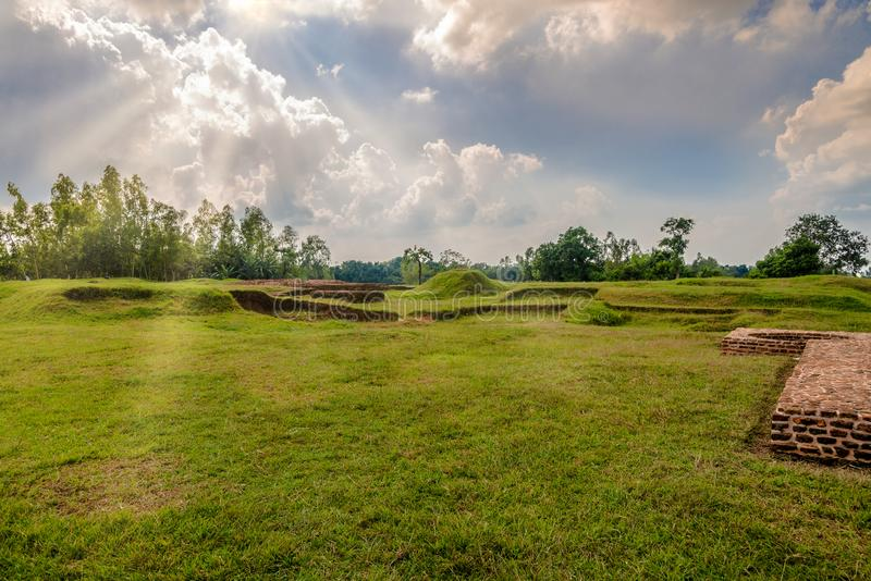 View at the Mahasthangarh Archaeological site near Bogra in Bangladesh. View at the Mahasthangarh Archaeological site near Bogra - Bangladesh royalty free stock images