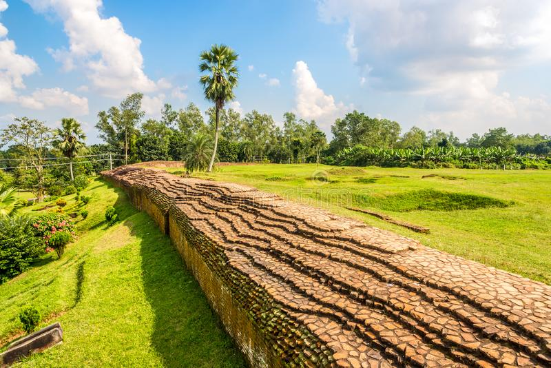 View at the Mahasthangarh Archaeological site near Bogra in Bangladesh. View at the Mahasthangarh Archaeological site near Bogra - Bangladesh royalty free stock photos