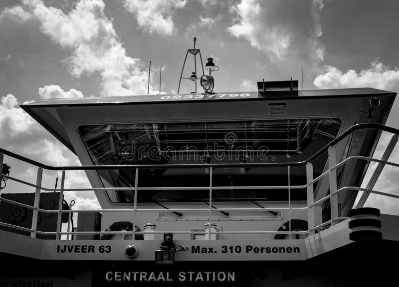 Ferry boat cabin. royalty free stock images