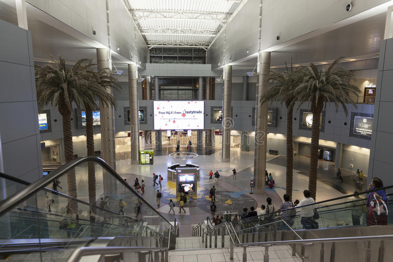 A View Of The Main Hall At The D Gates Mccarran Airport