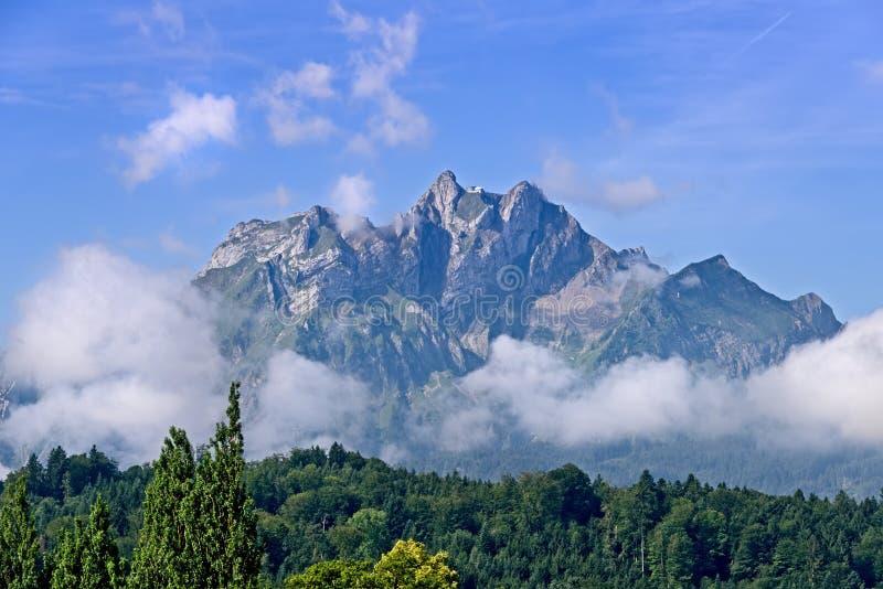 Mount Pilatus in Switzerland stock photo