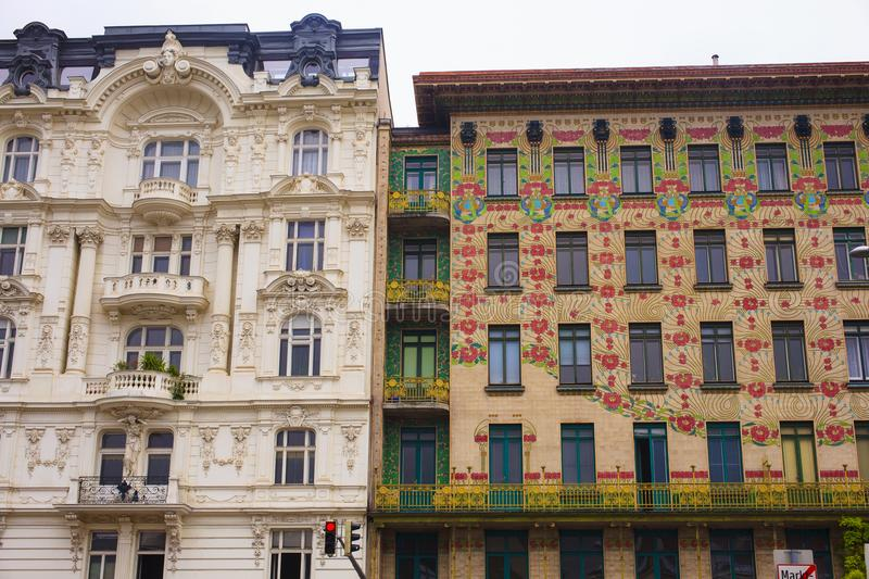 View of the Majolica House, Vienna stock image