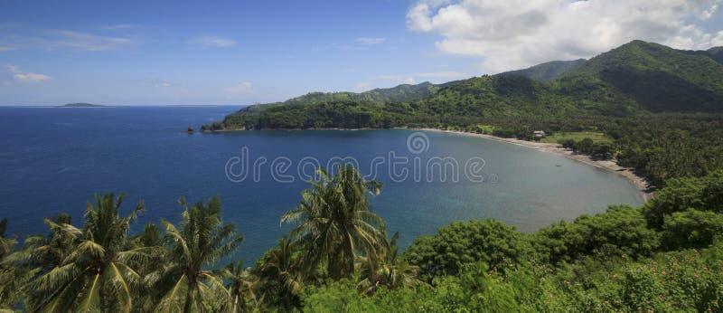 View from malimbu senggigi royalty free stock photography