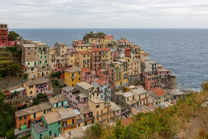 View of Manarola - Cinque Terre near La Spezia - Italy royalty free stock photo