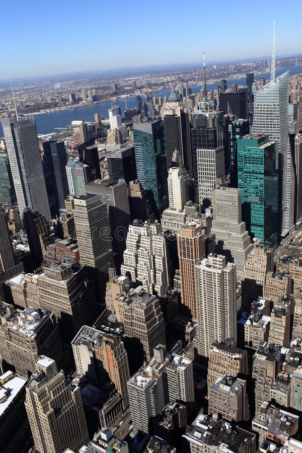 View of manhattan. From above, New york city stock images