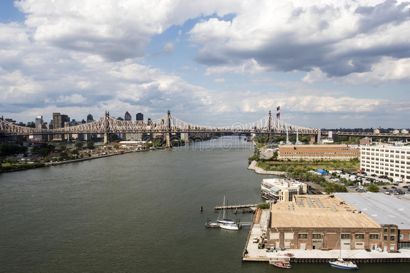 View at Manhattan from Long Island City in Summertime, New York City, United States of America. North America stock photo