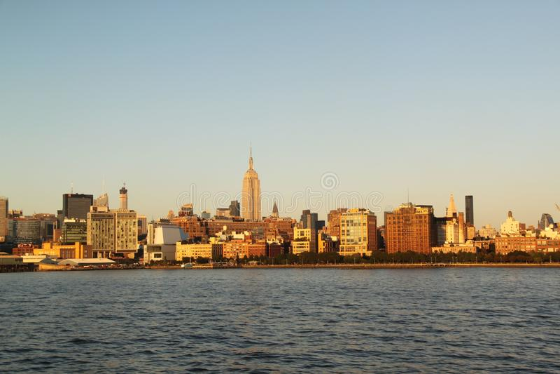 View on Manhattan New York. Midtown Manhattan, New York royalty free stock images