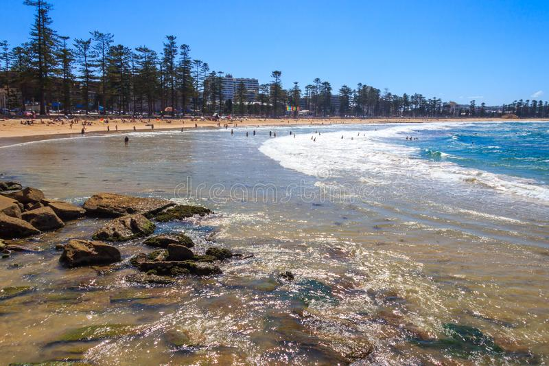 View of Manly beach. Sydney, Australia stock photography