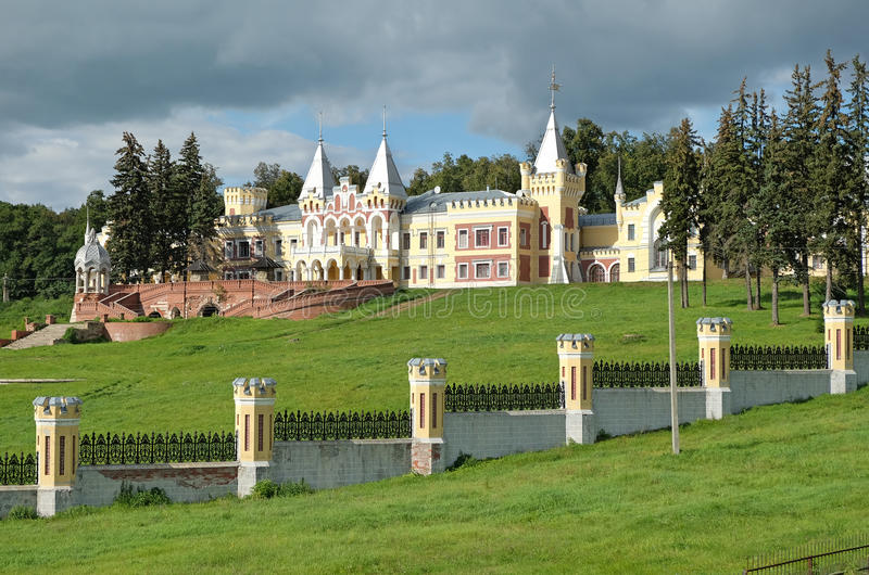 View of the manor house in the estate of Baron von Derviz in Kyritz. Now sanatorium for consumptives stock photography