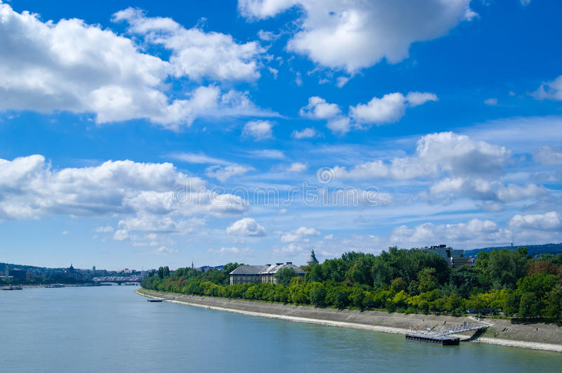 View at Margaret Island royalty free stock photo