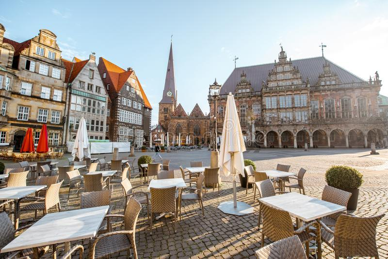 Bremen city in Germany stock photos