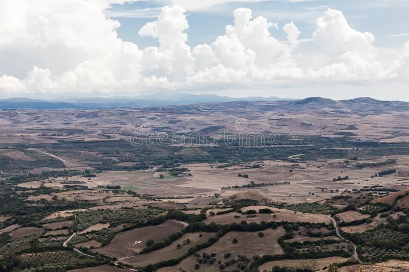 View of Marmilla Region. Marmilla is a natural region of southern-central Sardinia, Italy royalty free stock image