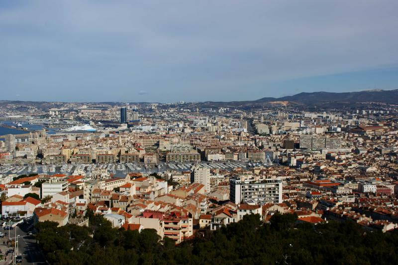 Marseille from Notre Dame royalty free stock photo