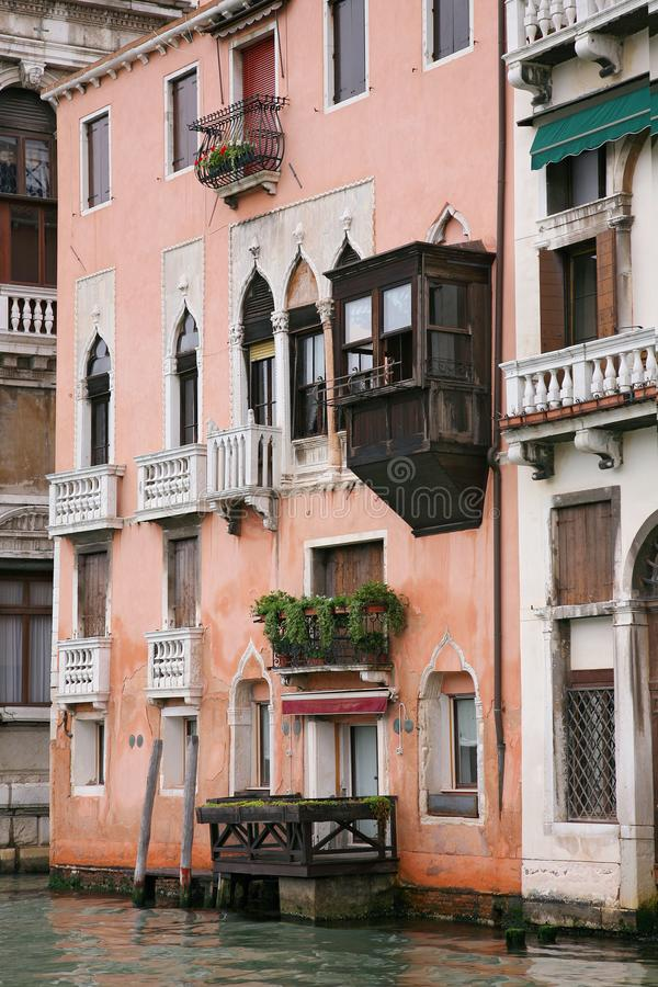 View of the marvelous architecture along the Grand Canal in Venice, Italy royalty free stock photography