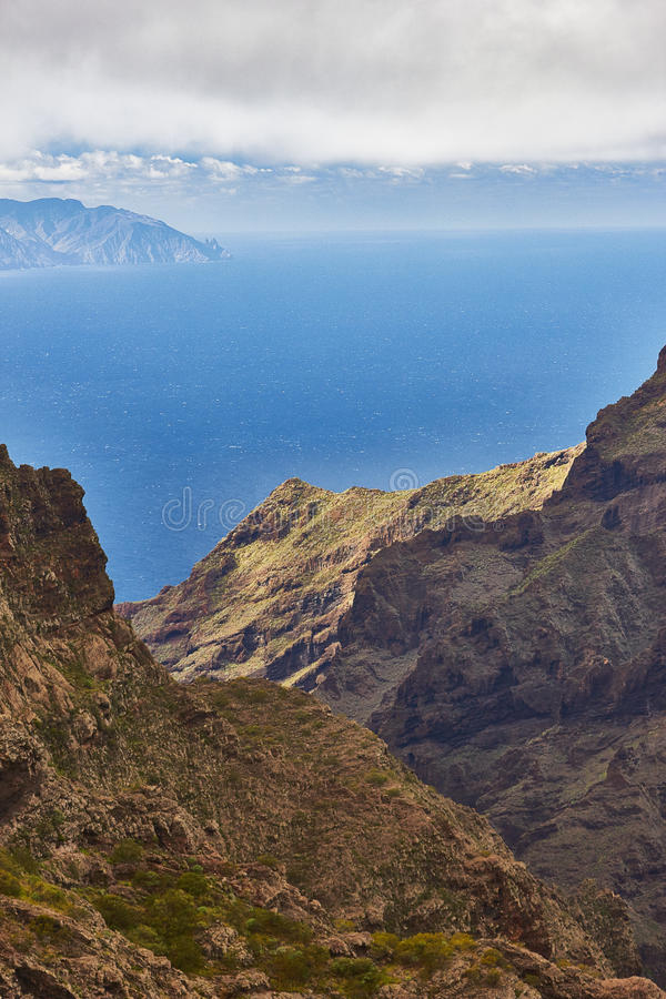 View of Masca village, Tenerife, Canary islands, Spain. View of Masca village, Tenerife stock photos