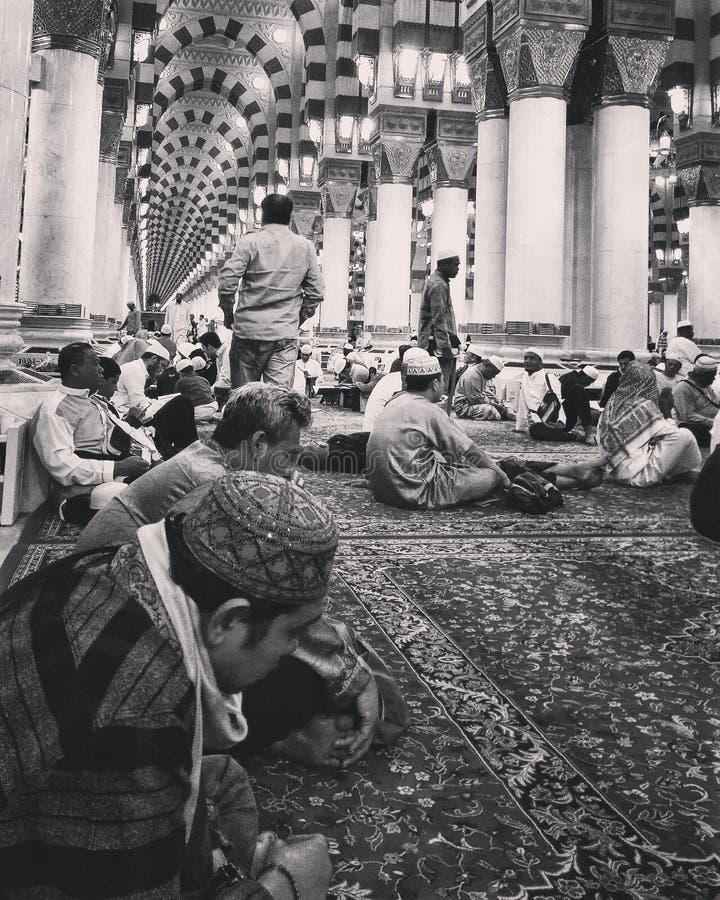View in the Masjid An-Nabawi, Medina Al-munawwarah stock photos