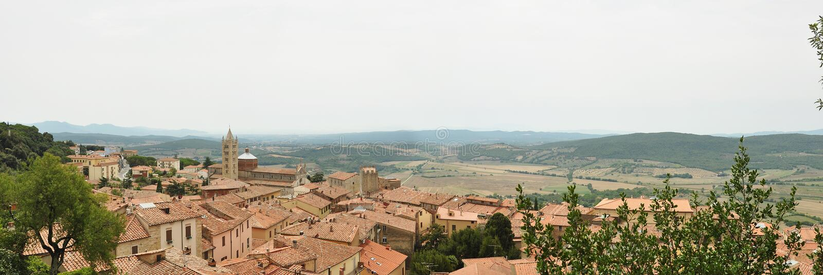 The view of Massa Marittima. stock image