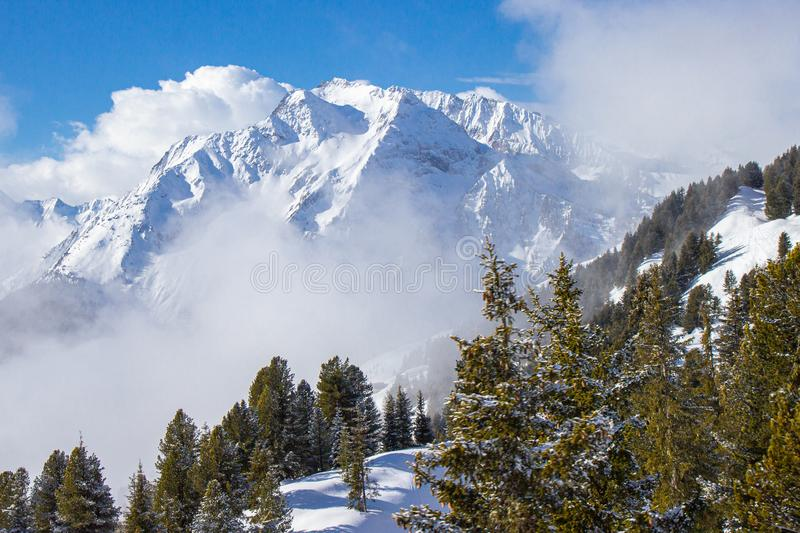 view of Mayrhofen ski resort, Austrian Alps royalty free stock images