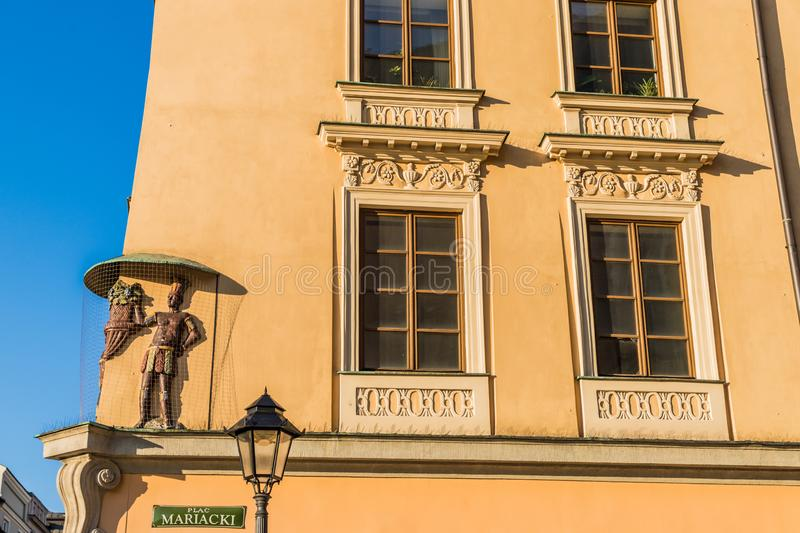 A view in the medieval old town in Krakow Poland stock photography