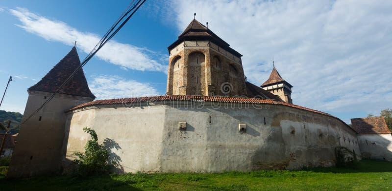 Valea Viilor fortified church, Romania stock photography