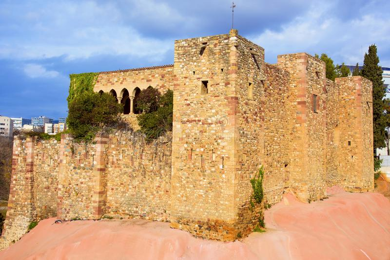 Vallparadis Castle in Terrassa, Spain. A view of the medieval Vallparadis Castle in Terrassa, Spain, in the Vallparadis public park royalty free stock photos
