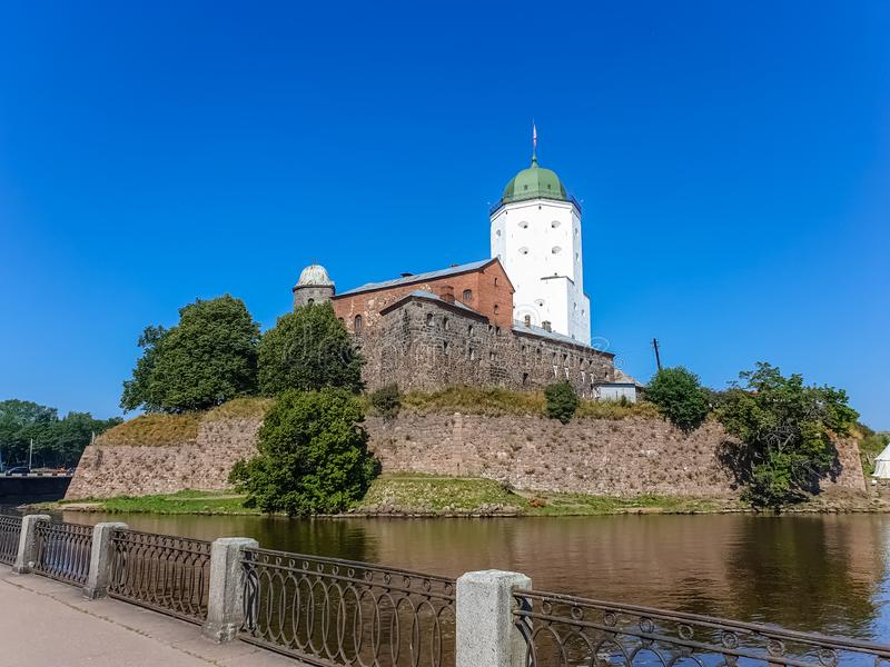 View on Vyborg Castle stock photography
