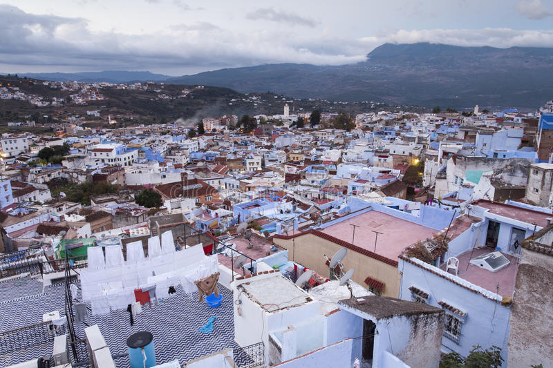 Download View Of Medina Blue Town Chefchaouen, Morocco Stock Images - Image: 35822784