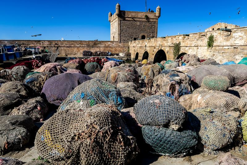 View of medina of essaoiura morocco, photo as background royalty free stock image