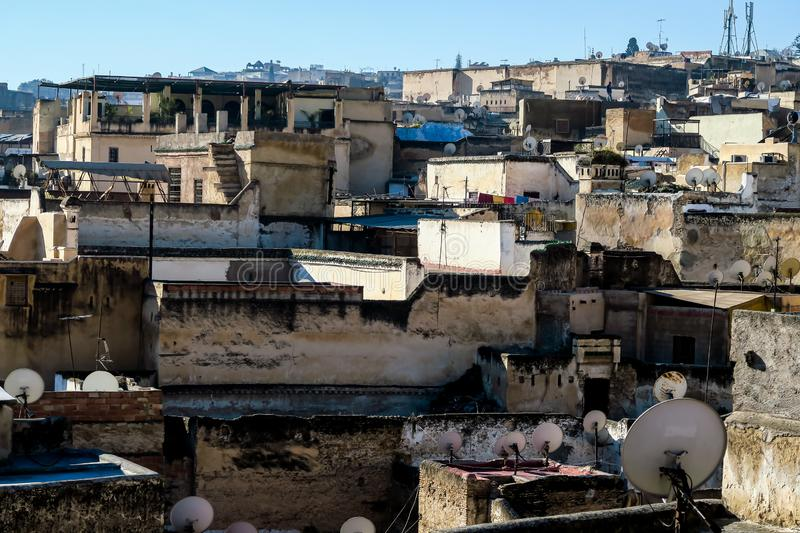 View of Medina in fes morocco, photo as background royalty free stock photo